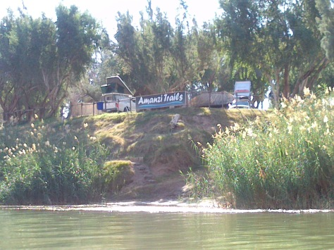 The view of our campsite from the river
