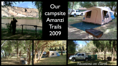 Our campsite at Amanzi Trails - Namibia 2009