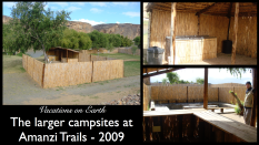 The larger campsites at Amanzi Trails taken in 2009