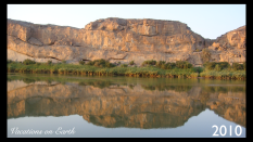 The view from our Chalet at Amanzi Trails, overlooking the Orange river into South Africa from Namibia