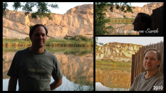 An all-encompassing breathtakingly spectacular scenery for me ~ relaxing with Ian on the banks of the Orange River ~ bliss