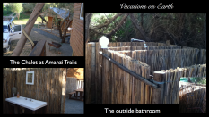 Namibia 2011 - Chalet at Amanzi Trails and its outdoors bathroom facilities (July)