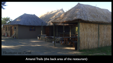 Namibia 2011 - The back of the Amanzi Trails reception and restaurant area (July)