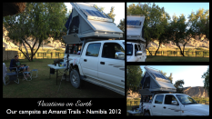 Namibia 2012 - Our camping set up for the night at Amanzi Trails on the Orange River