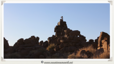 """Joe """"on top of the world"""" at Giants Playground - Namibia 2013 (August)"""