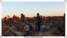 Joe, Belinda, Robin and Robyn at Giants Playground - Namibia 2013 (August)