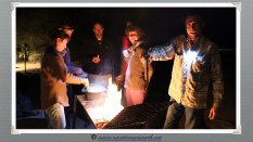 Namibia 2013 - Around the campfire with friends at Quivertree Forest Rest Camp (August)