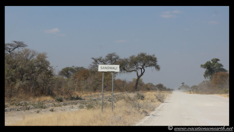 Namibia 2013 - Ngepi Camp to Mamili National Park - road trip.017