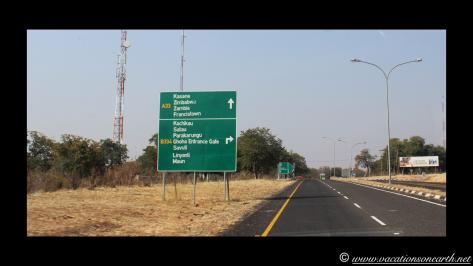 Namibia to Botswana 2013 - Road from Caprivi Strip through Ngoma Border Post into Botswana.006