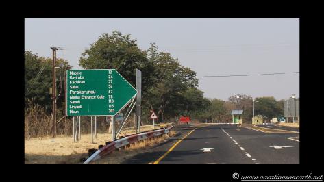 Namibia to Botswana 2013 - Road from Caprivi Strip through Ngoma Border Post into Botswana.007
