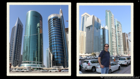 City Centre Mall and the buildings opposite it. Doha, Qatar