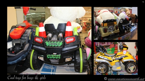 Kids toys in the City Centre Shopping Mall, Doha.