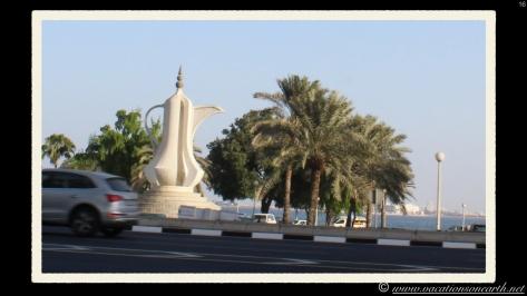 Along the road in Doha, Qatar.