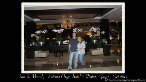 Ian & I at the Oryx Hotel in Doha.