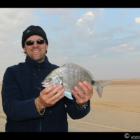 Day 7 - Fishing along the Skeleton Coast.  Caught 1 blacktail - 26 Sep 2013