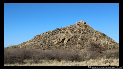 Namibia 2013 - Road trip from Hoba Meteorite, Grootfontein to Weaver's Rock Campsite, 19 Aug.020