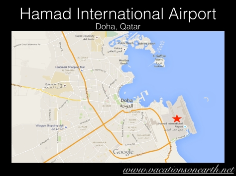 Hamad International Airport Map, Doha