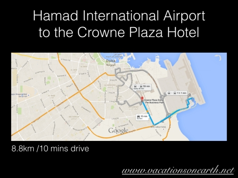 Hamad International Airport to Crowne Plaza Hotel, Doha