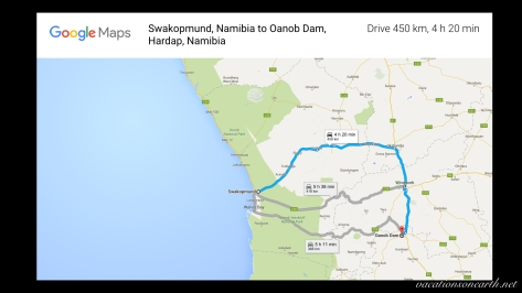 Swakopmund to Oanob Dam drive, Map, Sep 2013.001