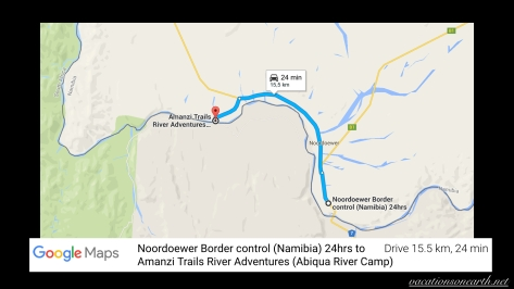 Noordoewer Border Post to Amanzi Trails River Adventures map.002